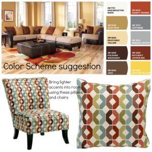 Room collage color scheme