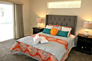 Master bed cushions